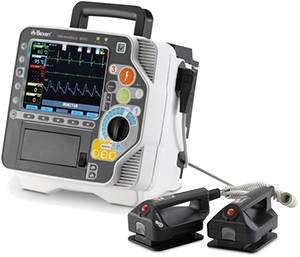 Defibrillator electrode position and placement, Defibrillation treatment ventricular fibrillation